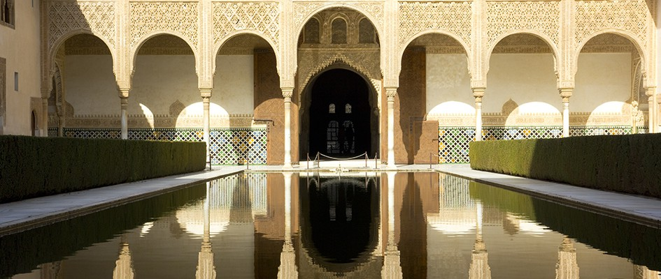 Patio of Arrayanes of Alhambra, Granada, Spain.